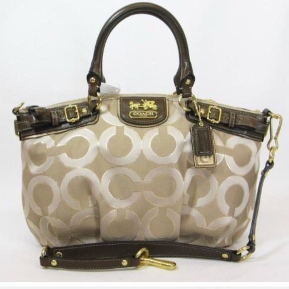 Coach Handbags - Coach Madison Op Art Sateen Sophia Satchel Bag